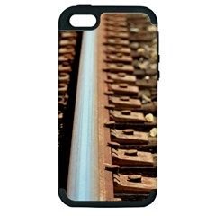 Train Track Apple Iphone 5 Hardshell Case (pc+silicone) by hlehnerer