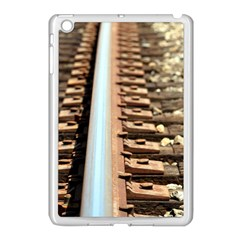 Train Track Apple Ipad Mini Case (white) by hlehnerer