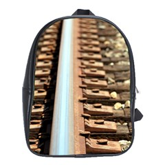 Train Track School Bag (xl) by hlehnerer