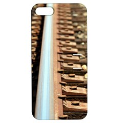 Train Track Apple Iphone 5 Hardshell Case With Stand by hlehnerer