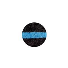 Black Blue Lawn 1  Mini Button by hlehnerer