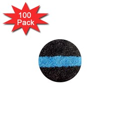 Black Blue Lawn 1  Mini Button Magnet (100 Pack) by hlehnerer