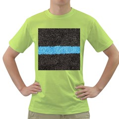 Black Blue Lawn Mens  T Shirt (green) by hlehnerer