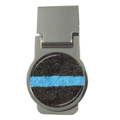 Black Blue Lawn Money Clip (round) by hlehnerer