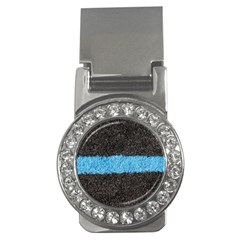 Black Blue Lawn Money Clip (cz) by hlehnerer