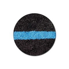 Black Blue Lawn Drink Coaster (round) by hlehnerer