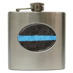 Black Blue Lawn Hip Flask