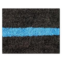 Black Blue Lawn Jigsaw Puzzle (rectangle)