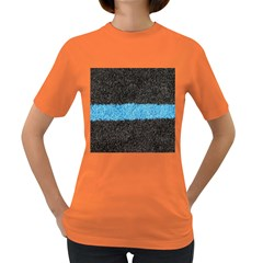Black Blue Lawn Womens' T Shirt (colored) by hlehnerer