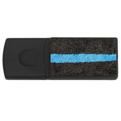 Black Blue Lawn 4gb Usb Flash Drive (rectangle) by hlehnerer