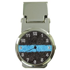 Black Blue Lawn Money Clip With Watch by hlehnerer