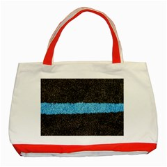 Black Blue Lawn Classic Tote Bag (red) by hlehnerer