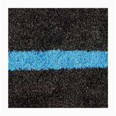 Black Blue Lawn Glasses Cloth (medium, Two Sided) by hlehnerer