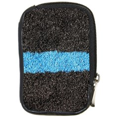 Black Blue Lawn Compact Camera Leather Case