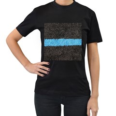 Black Blue Lawn Womens' T Shirt (black) by hlehnerer