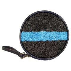 Black Blue Lawn Cd Wallet by hlehnerer