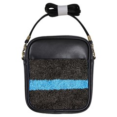 Black Blue Lawn Girl s Sling Bag by hlehnerer