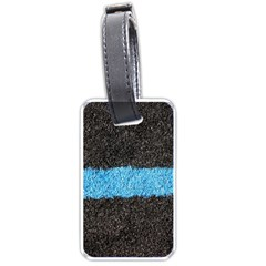 Black Blue Lawn Luggage Tag (one Side) by hlehnerer