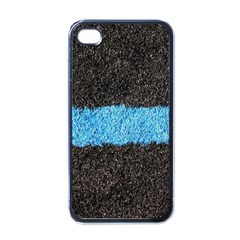 Black Blue Lawn Apple Iphone 4 Case (black) by hlehnerer