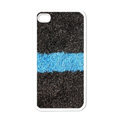 Black Blue Lawn Apple Iphone 4 Case (white) by hlehnerer