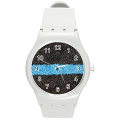 Black Blue Lawn Plastic Sport Watch (medium) by hlehnerer