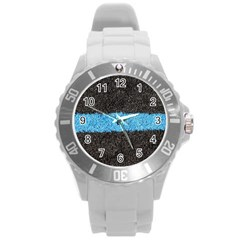 Black Blue Lawn Plastic Sport Watch (large) by hlehnerer