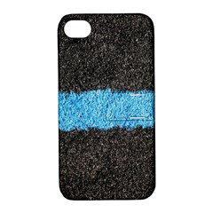 Black Blue Lawn Apple Iphone 4/4s Hardshell Case With Stand by hlehnerer