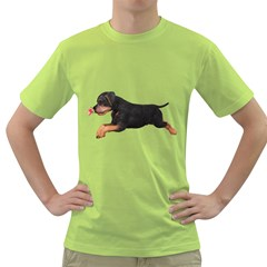 Puppy 1 Mens  T Shirt (green) by gatterwe