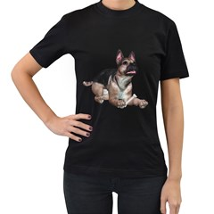 Puppy 2 Womens' Two Sided T Shirt (black) by gatterwe