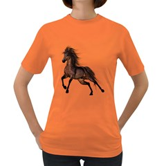 Brown Horse 1 Womens' T Shirt (colored)