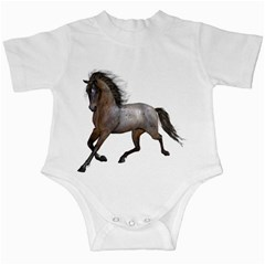 Brown Horse 2 Infant Creeper by gatterwe