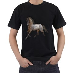 Brown Horse 2 Mens' Two Sided T Shirt (black) by gatterwe