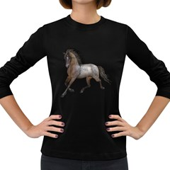 Brown Horse 2 Womens' Long Sleeve T Shirt (dark Colored)