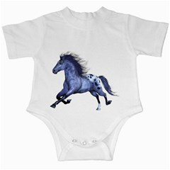 Blue Horse Infant Creeper by gatterwe
