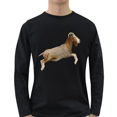 Goat 1 Mens' Long Sleeve T Shirt (dark Colored)