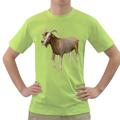 Goat 3 Mens  T Shirt (green) by gatterwe