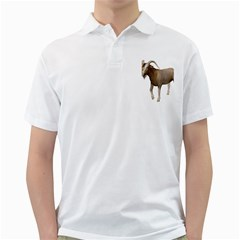 Goat 3 Mens  Polo Shirt (white) by gatterwe