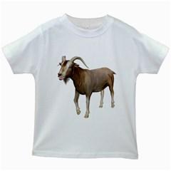 Goat 3 Kids' T Shirt (white) by gatterwe