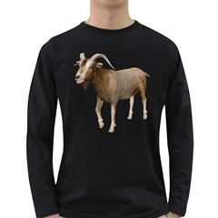 Goat 3 Mens' Long Sleeve T Shirt (dark Colored) by gatterwe