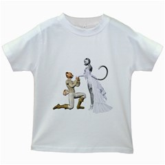 Wedding Couple 1 Kids' T Shirt (white)
