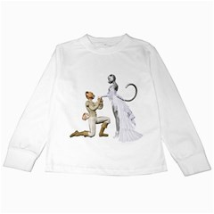 Wedding Couple 1 Kids Long Sleeve T Shirt by gatterwe