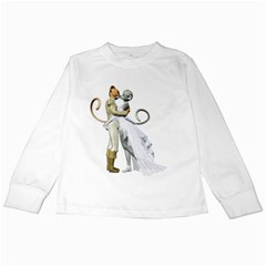 Wedding Couple 2 Kids Long Sleeve T Shirt by gatterwe
