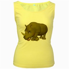 Rhino 2 Womens  Tank Top (yellow)
