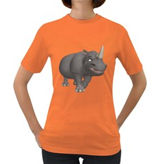Rhino 3 Womens' T Shirt (colored) by gatterwe