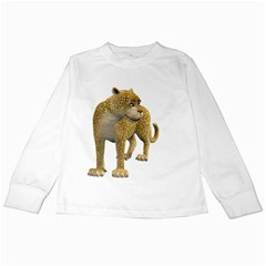 Leopard 1 Kids Long Sleeve T Shirt by gatterwe