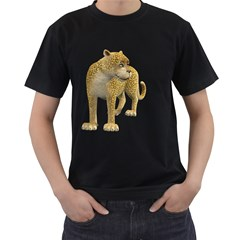 Leopard 1 Mens' T Shirt (black)