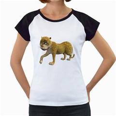 Leopard 2 Women s Cap Sleeve T Shirt (white) by gatterwe