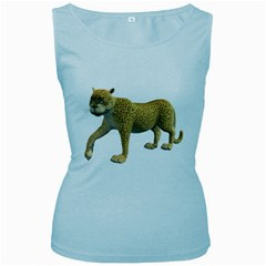 Leopard 2 Womens  Tank Top (baby Blue) by gatterwe