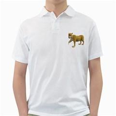 Leopard 2 Mens  Polo Shirt (white) by gatterwe