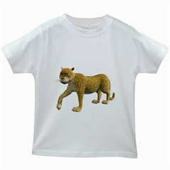 Leopard 2 Kids' T Shirt (white)